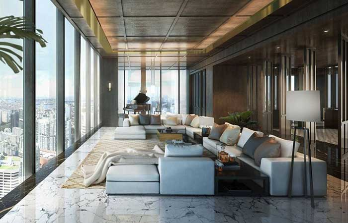 wallich residence super penthouse interior